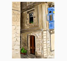 Original digital painting artwork of old european city Unisex T-Shirt