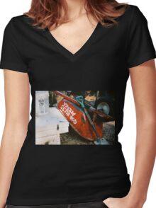 God Bless Grunge Women's Fitted V-Neck T-Shirt