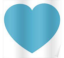 Heart - Blue Poster