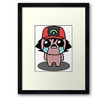 The Binding Of Isaac/Pokémon Crossover - Ash Ketchum (Hoenn) Framed Print