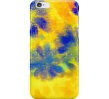 Impressionistic illustration of spring and summer flowers iPhone Case/Skin