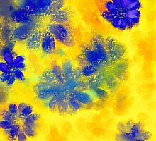 Impressionistic illustration of spring and summer flowers by kavunchik