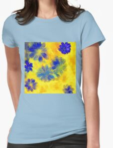 Impressionistic illustration of spring and summer flowers Womens Fitted T-Shirt