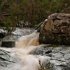 Water gushing down by Sonya Byrne