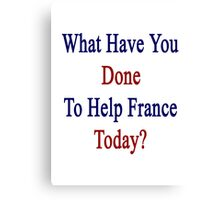 What Have You Done To Help France Today?  Canvas Print