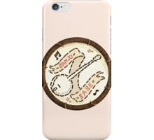 Banjo Babe Folk Music Embroidery Style Patch iPhone Case/Skin