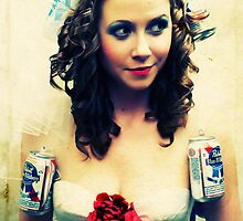 Pabst Blue Ribbon Bride  by Brian David  Braun