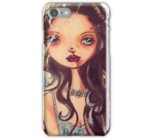 Big eyed water color splatter painting beauty iPhone Case/Skin