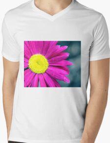 Painted Daisy Macro Mens V-Neck T-Shirt