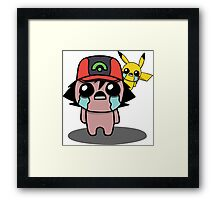 The Binding Of Isaac/Pokémon Crossover - Ash Ketchum and Pikachu (Hoenn) Framed Print