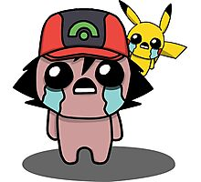 The Binding Of Isaac/Pokémon Crossover - Ash Ketchum and Pikachu (Hoenn) Photographic Print