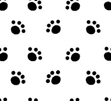 Pawprint Pattern by TheSweetDisease