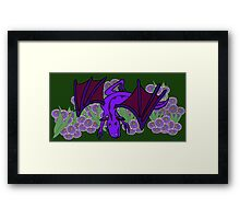 Purple Dragon at play Framed Print