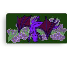 Purple Dragon at play Canvas Print