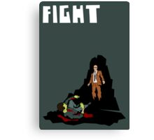 Fight. (Man v. Zombie) Canvas Print