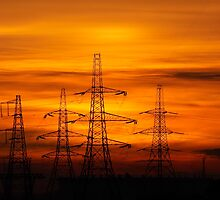 Pylon Sunset. by Silasgreenback