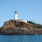 Battle Island Light Station - Lake Superior by John Callan