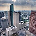 downtown Houston as seen from the JPmorgan tower by John Chandler