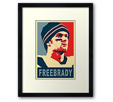 #FreeBrady - New England Patriots - #deflategate Obama Hope Framed Print
