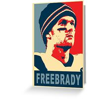 #FreeBrady - New England Patriots - #deflategate Obama Hope Greeting Card
