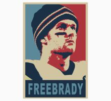 #FreeBrady - New England Patriots - #deflategate Obama Hope Baby Tee
