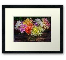 Bouquet of dahlias Framed Print