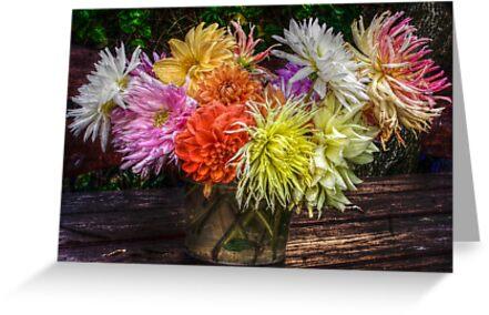 Bouquet of dahlias by Antanas