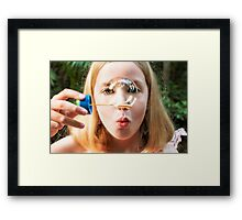 Blowing Bubbles.... Framed Print