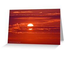 Red Sunrise | East Moriches, New York Greeting Card