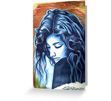 Lorde (Homage to Picasso) Greeting Card