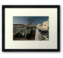 US Army Tank Liberation Memorial, Marseilles, France 2012 Framed Print