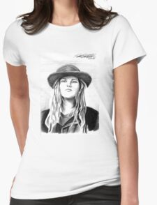 Andy Wood (Charcoal) Womens Fitted T-Shirt