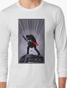 Doctor Who: Shredding Through Time Long Sleeve T-Shirt