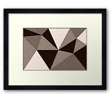 Brown polygonal geometric illustration, low poly style Framed Print