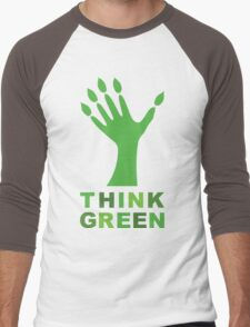 Think Green Men's Baseball ¾ T-Shirt