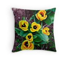 Yellow tulips. Throw Pillow