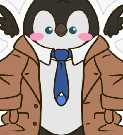 Cuddley Castiel Penguin Sticker