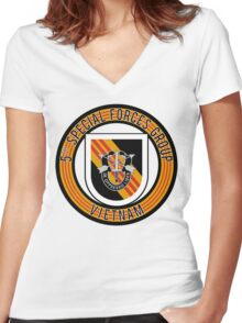 5th Special Forces Vietnam rd Women's Fitted V-Neck T-Shirt