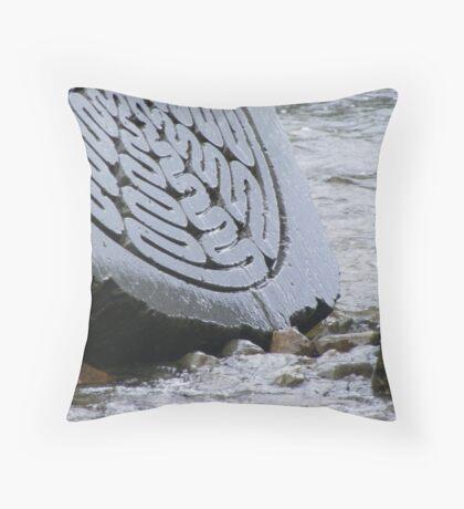 centenary stone - water runs through  Throw Pillow
