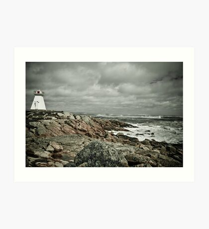 Sandy Point Lighthouse Art Print