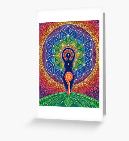 Goddess of the World Greeting Card