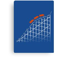 I'm on a roller coaster that only goes up (dark shirts) Canvas Print
