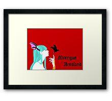 Morrigan Aensland of Darkstalkers Framed Print