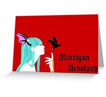 Morrigan Aensland of Darkstalkers Greeting Card
