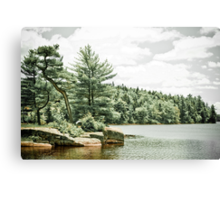 Isolated Lake Canvas Print