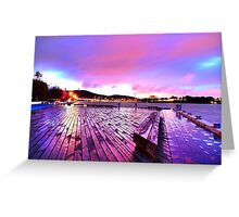 Boardwalk Of Colour Greeting Card