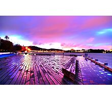 Boardwalk Of Colour Photographic Print