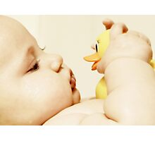 Rubber ducky, you're my very best friend it's true Photographic Print