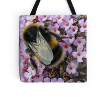 Up Close and Personal - Bumble Bee at Work  Tote Bag