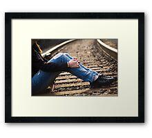 Nike Tracks Framed Print